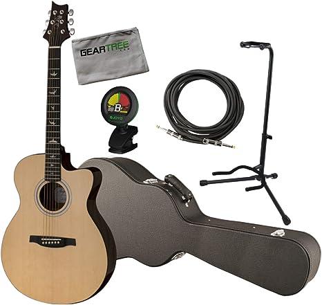 PRS SE AX20E Angelus - Guitarra acústica con funda, cable, soporte ...