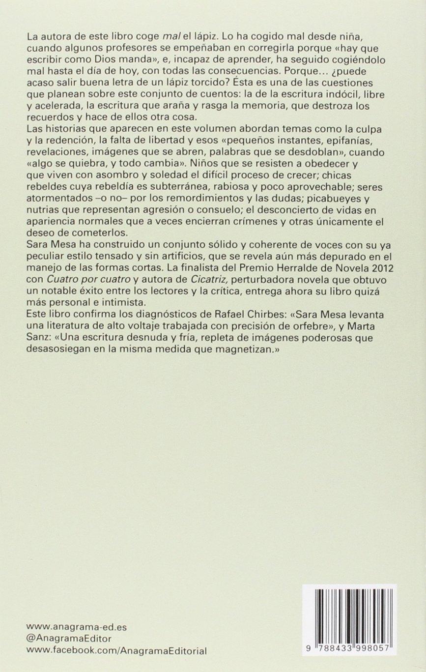 Mala letra: 558 (Narrativas hispánicas): Amazon.es: Mesa, Sara: Libros