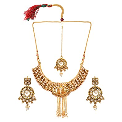 Buy Efulgenz Indian Ethnic Traditional White Rhinestone Heavy