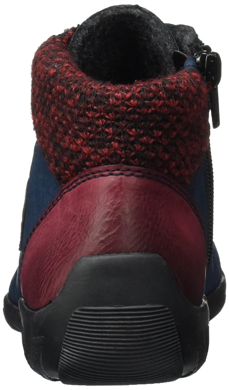 Rieker Damen Blau L6513 Stiefel Blau Damen (Wine/Navy/Brandy/Azzuro/Lorbeer/Rot-schwarz) 57b0a5