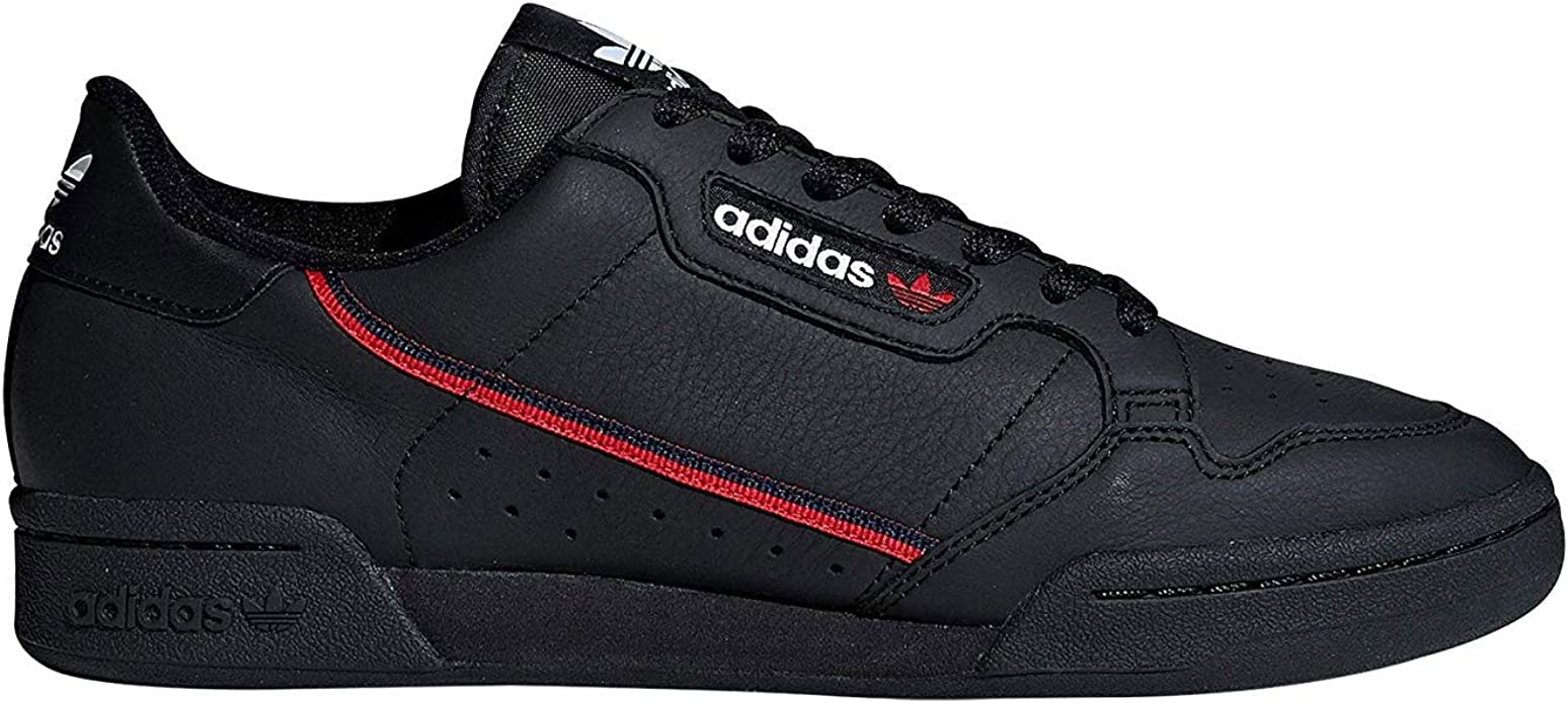 adidas Continental 80 Mens in Black/Scarlet/College Navy, 5