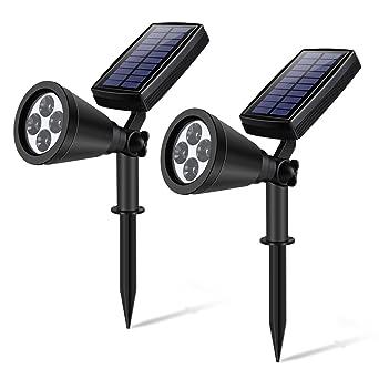 Lampe Led Solaire Yipin Ip65 Certifie Projecteur Led Exterieur Solaire Luminaire Exterieur 2w 200 Lumen Led Solaire Jardin