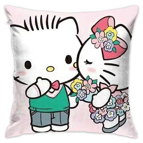Amazon.com: Meirdre Funda de almohada Hello Kitty y Dear ...