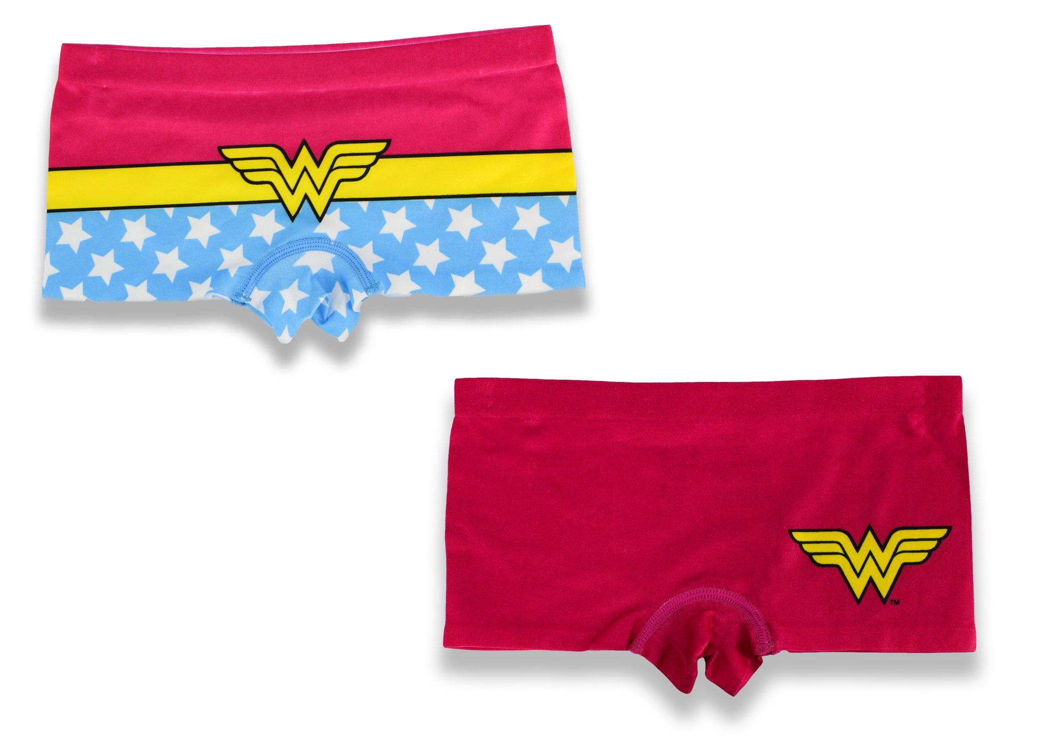 Girls' Wonder Woman Boy Shorts(2 PK) (Small)