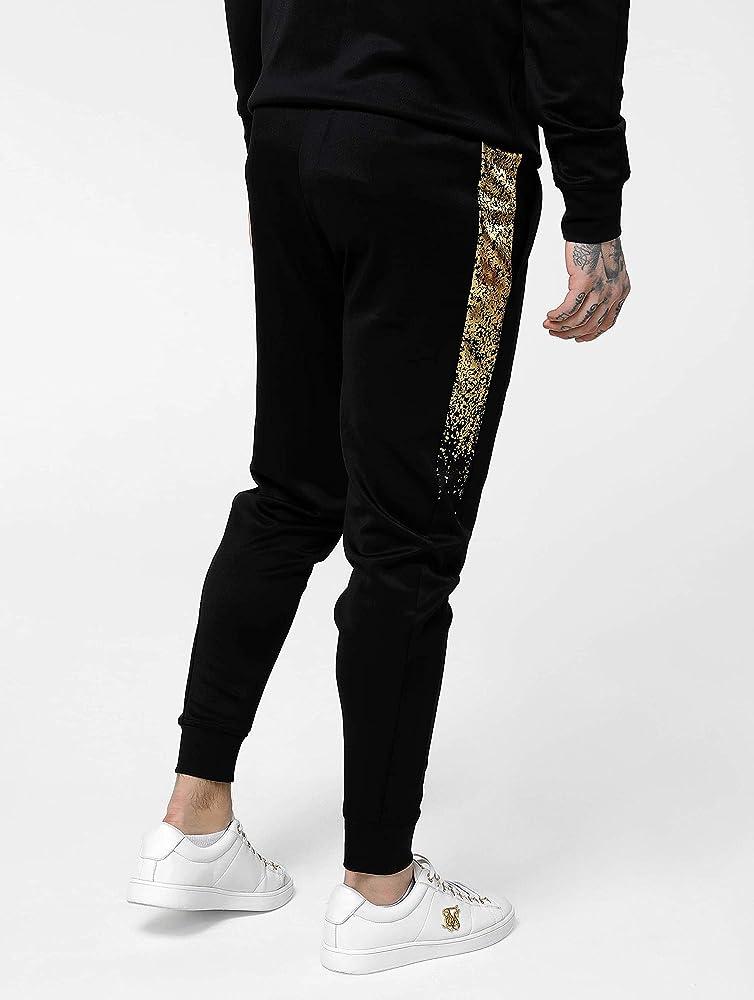 Siksilk AW19 - Siksilk 14820 Cuffed Cropped Fade Panel Pants Black ...