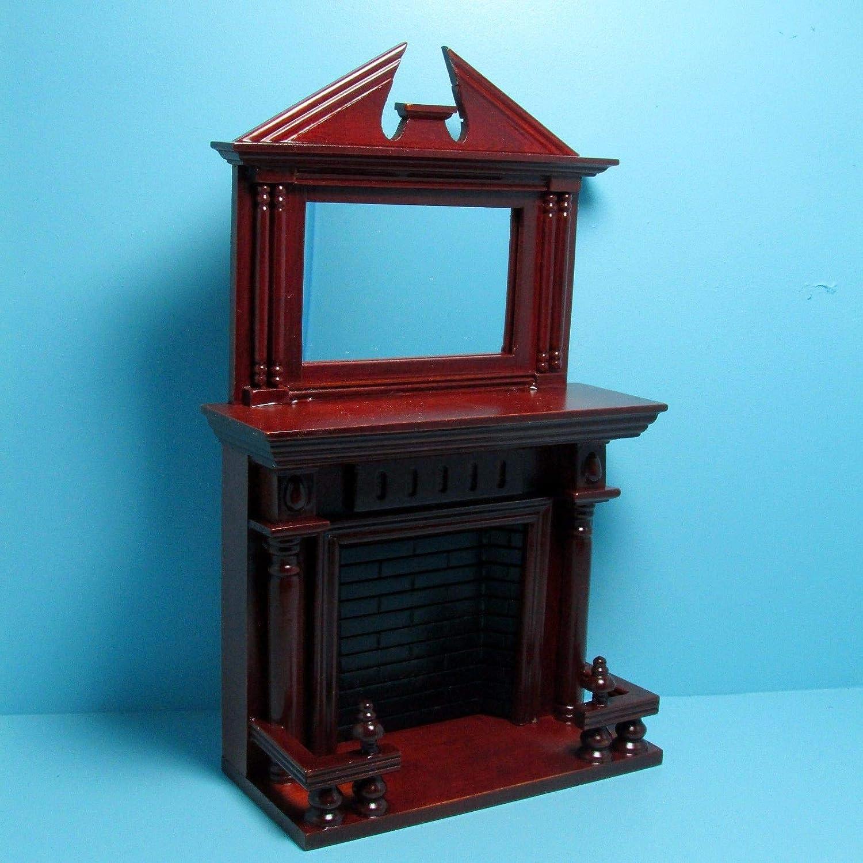 Amazon Com Dollhouse Miniature Mahogany Victorian Fireplace With