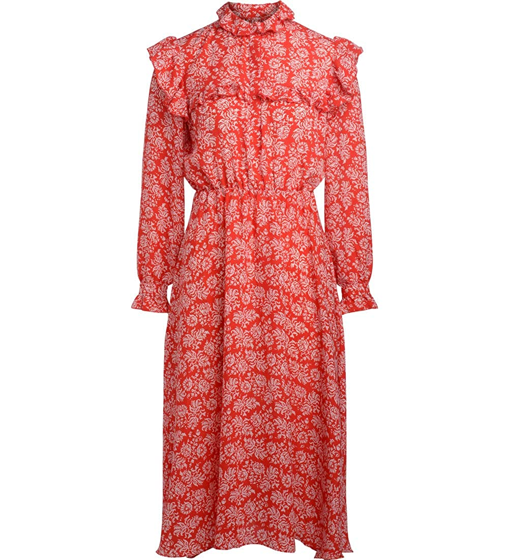 Red JOVONNA Woman's Iris Red Dress with Flounces