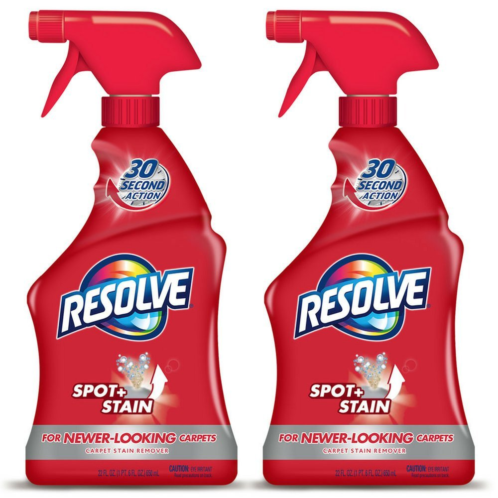 Resolve Carpet Spot & Stain Remover, 22 fl oz Bottle, Carpet Cleaner (Pack of 2)