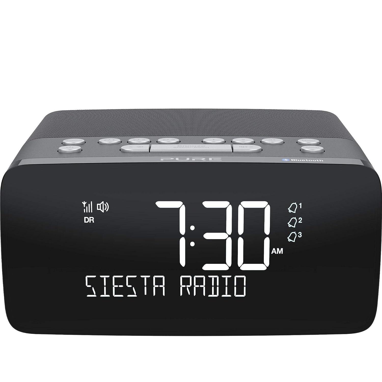 Pure 154501 Pure Siesta Charge, Radio despertador con DAB+, color Graphite