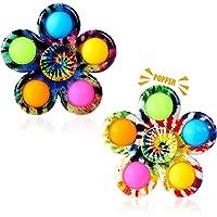 Gigilli Pop Fidget Spinner 2 Pack, Push Tie Dye Simple Fidget Popper Spinners, Pop Bubble Fidget Toys Hand Spinner for…
