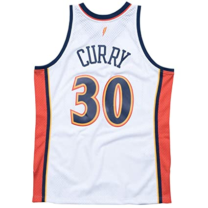 166f50f4908 Mitchell   Ness Golden State Warriors Stephen Curry 2009 Home Swingman  Jersey (Small)