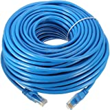 Link-e ® : Cable reseau bleu ethernet RJ45 30m CAT.6 qualité pro, connexion internet Box, TV, PC, routeur, switch, consoles...