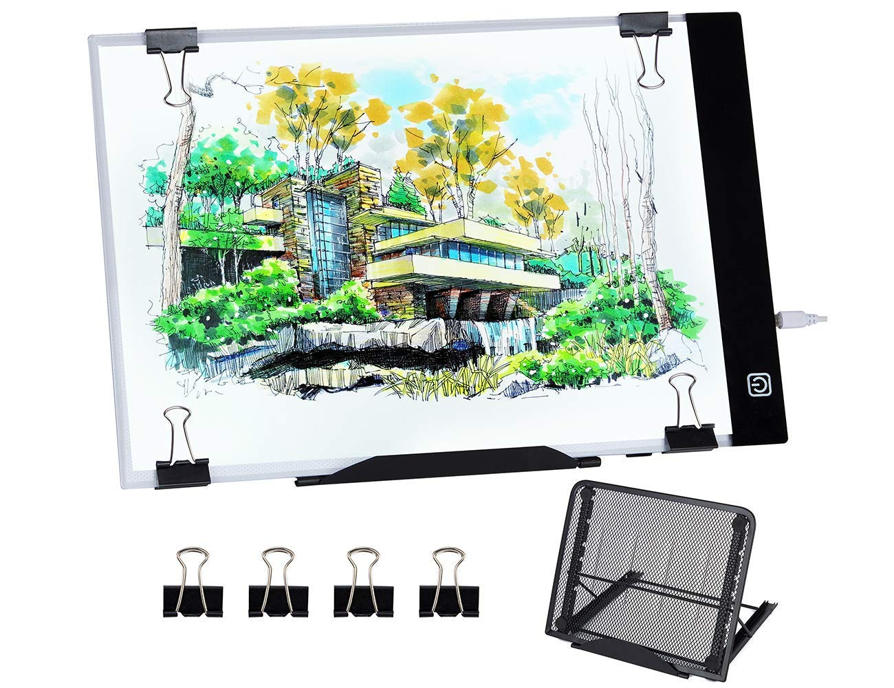 Diamond Painting A4 LED Light Pad, Dimmable Light Board Kit, Apply to Full Drill & Partial Drill 5D Diamond Painting with Detachable Stand and Clips Hakkin
