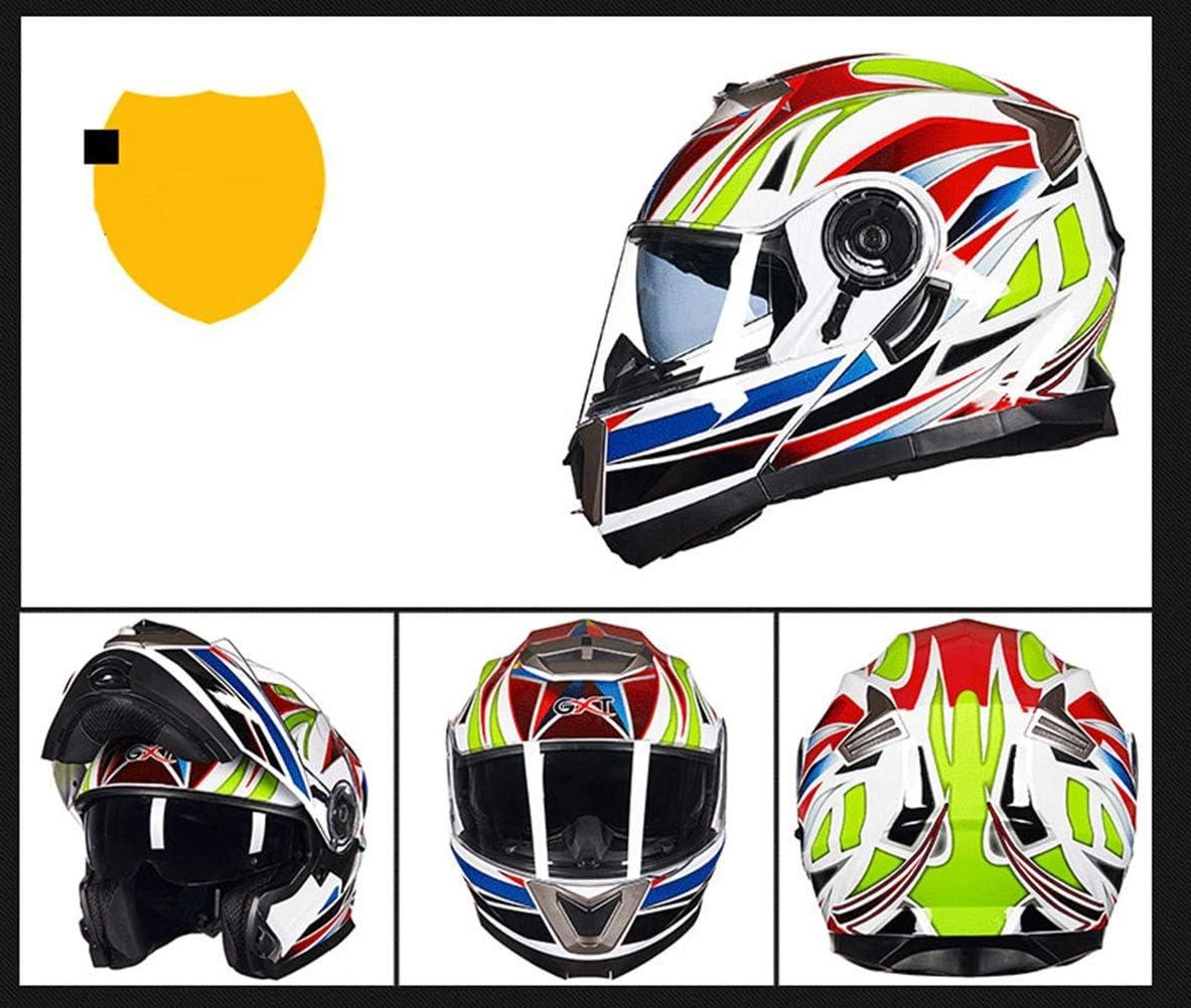 Motorradhelm Fullface Doppelvisier Sonnenblende F/ür Damen Herren Erwachsene Hochklappen Sturzhelm Scooter OD-B Motorrad Helm Integralhelm Klapphelm