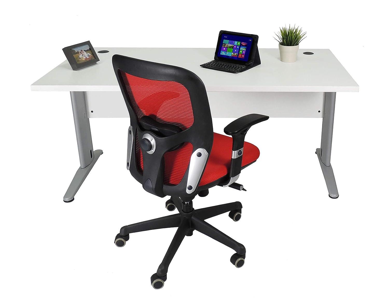 Mesa de Oficina. Euro 3000. Color Blanco. 140x80 cm. Patas en T de ...