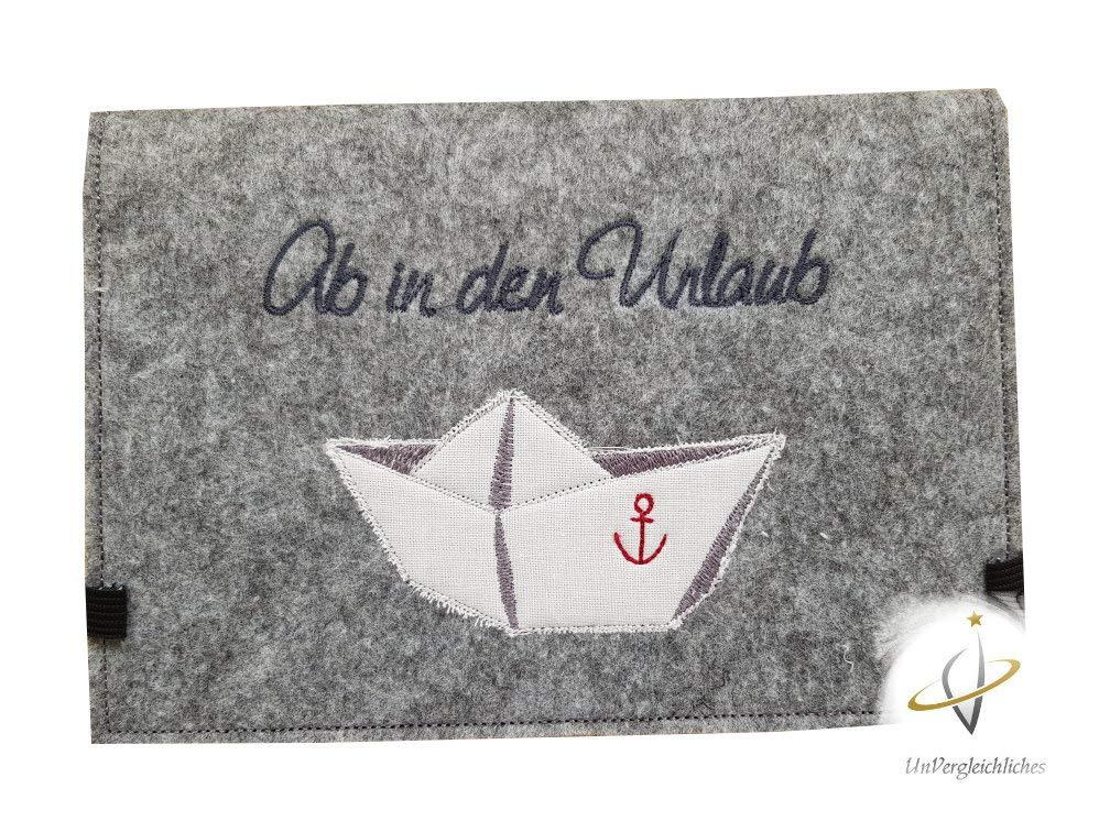 *Papierboot* Familienetui Reisehü lle Reiseetui Reisepasshü lle