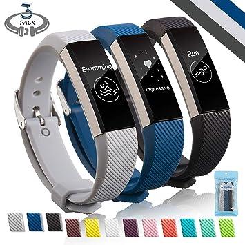 Fitbit Alta HR Correa, Digitek TPU Soft Silicona Adjustable ...