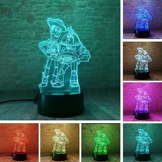 CJRSAM Juguete para niños Buzz Lightyear Woody RGB cambia de ...