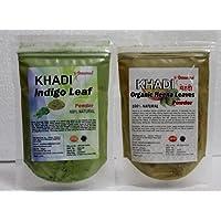 Khadi Omorose Pure And Natural Indigo & Heena Powder - 100 Grams Each