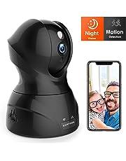 WLAN IP Kamera 1080P, KAMTRON WiFi Überwachungskamera,mit 350°/100°Schwenkbar,Home und Baby Monitor mit Bewegungserkennung, Zwei-Wege-Audio, Nachtsicht,unterstützt Fernalarm und Mobile App Kontrolle