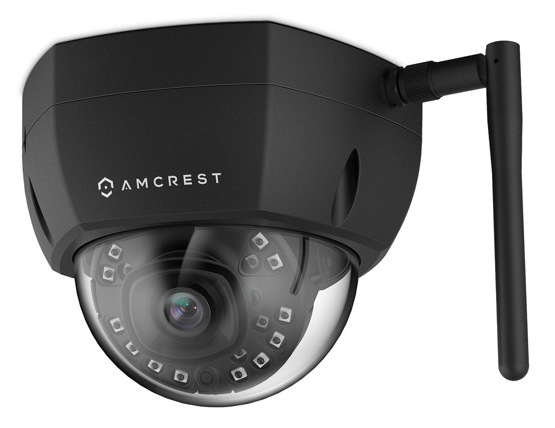 Amcrest ProHD Outdoor 2 Megapixel WiFi Wireless Vandal Dome IP Security Camera IP2M-851B 2MP IP67 Weatherproof 1920 TVL Black