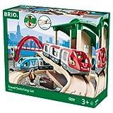 Brio - 33512 - Circuit de 2 trains en bois - Plateforme Voyageurs