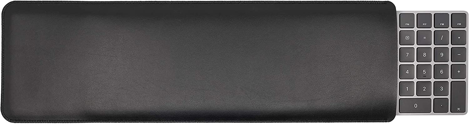 GuardV Leather Series for Apple Magic Keyboard with Numeric Keypad - Protective Sleeve Cover Case Pouch (Black)