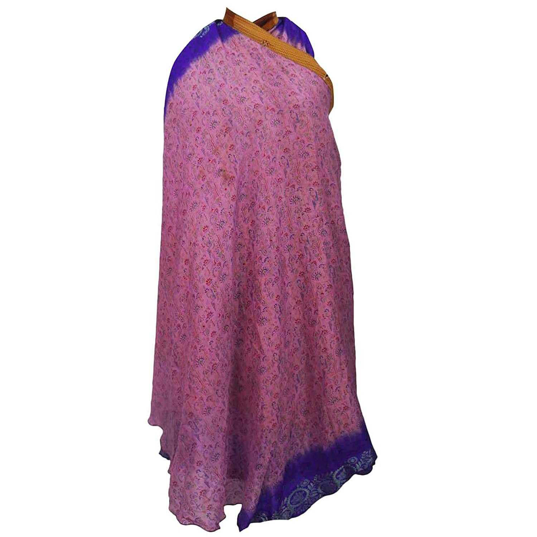 Vintage-Kleid Polyester Magie Wickelrock Boho plus langes 36