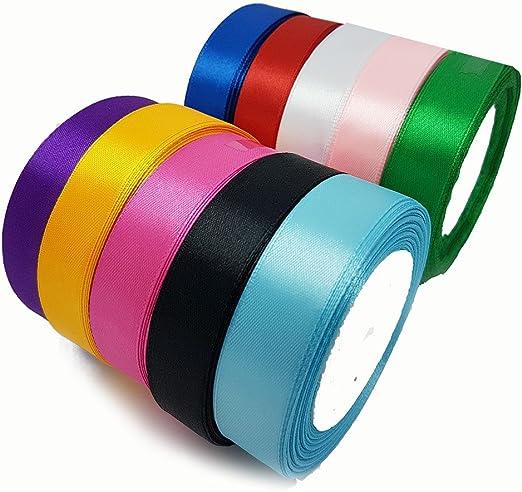 Accessories Attic Rollo De Cinta De Raso 10 Colores 20 Mm Amazon Es Hogar