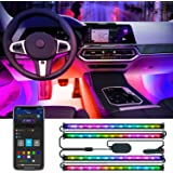Govee RGBIC Interior Car Lights with Smart App Control, 2 Lines Design LED Car Lights, Music Sync Mode, DIY Mode, and Multipl