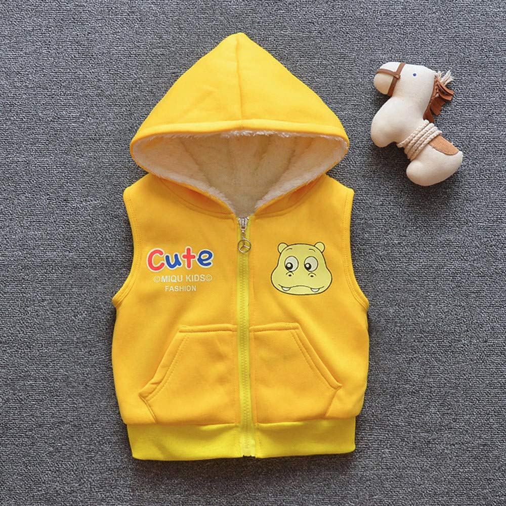 FORESTIME Cute Fleece Hoodie Baby Girls Boys Cartoon Jackets Baby Toddler Warm Vest Waistcoat Clothes Hoodie Coat