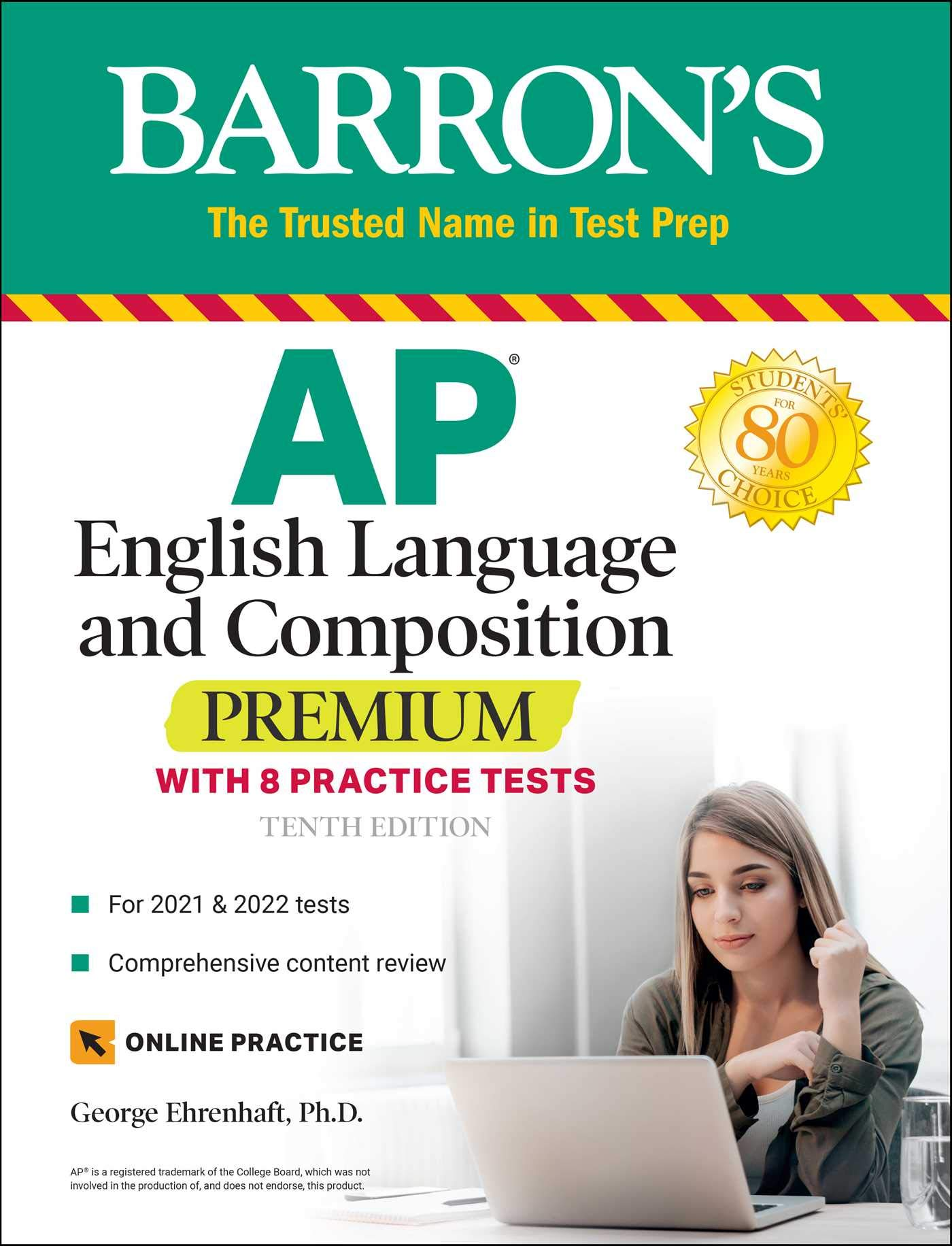 AP English Language and Composition Premium: With 8 Practice Tests (Barron's Test Prep)