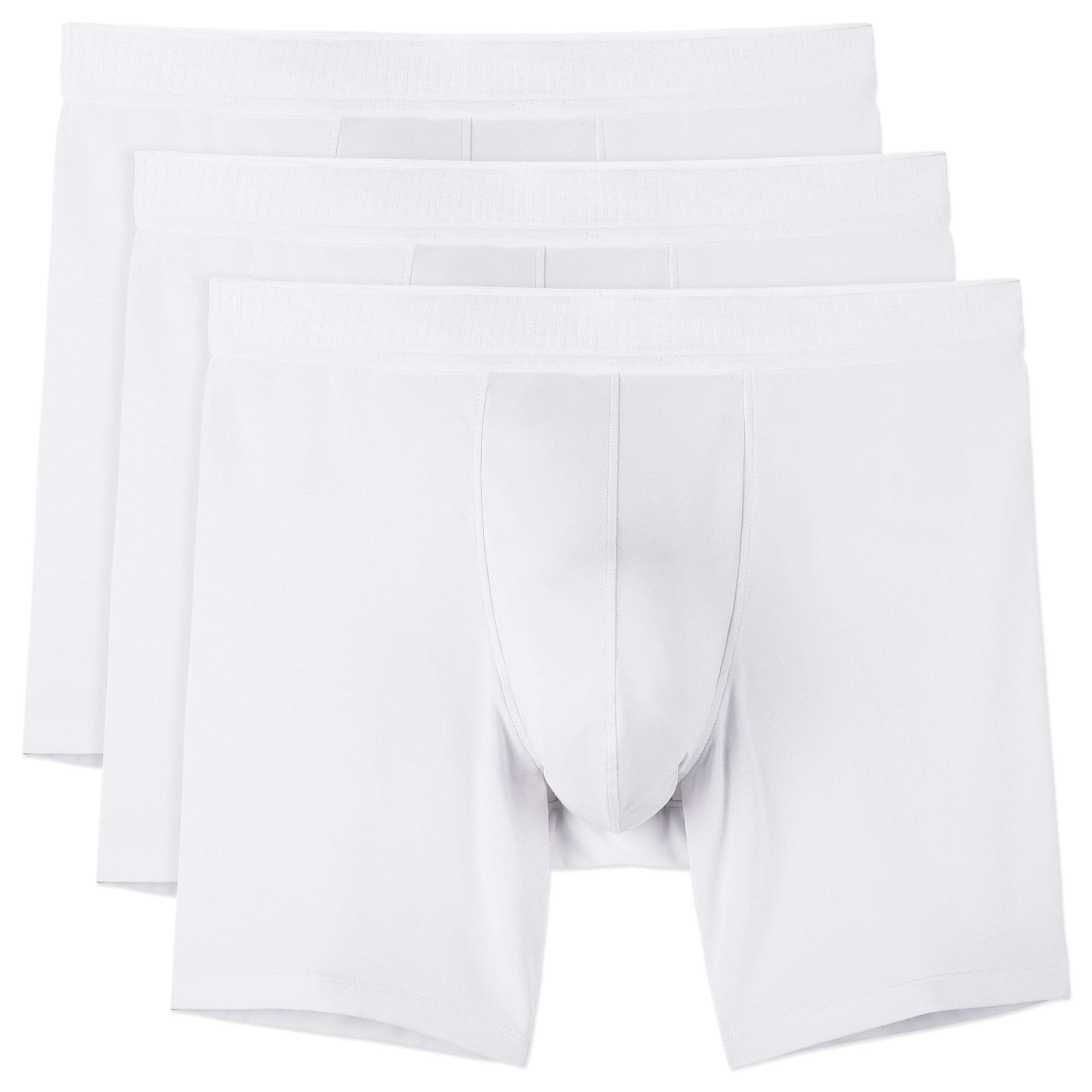 Separatec 7pack Multicolour for Everyday Mens Boxer Briefs Breathable Soft Cotton Underwear Shorts with Supportive Separated Dual Pouch