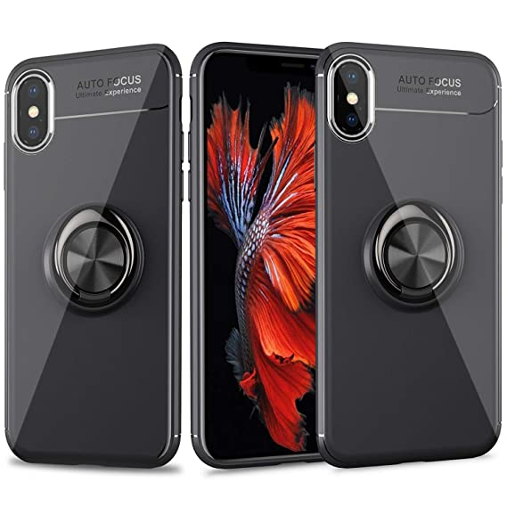 b3b072708a6ac5 Cresawis iPhone Xs Max Case, Ultra-Slim iPhone Xs Max Case with Ring Holder