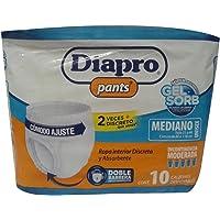 Diapro Pants Pañal Mediano, 10 piezas