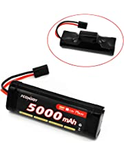 FCONEGY NiMH Battery 8.4V 5000mAh 7-Cell Hump Pack with Traxxas Plug for RC Cars, RC Truck