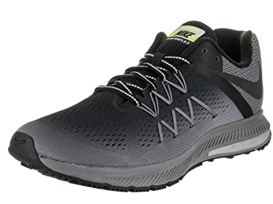 detailed look 8a6e5 e4559 NIKE New Men s Zoom Winflo 3 Shield Running Shoe Black Cool Grey 8.5