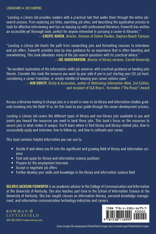 Amazon.com: Landing a Liry Job (9781538116999): DELORIS ... on educational information, valuable information, online information, selling information, practical information, disclosing information, sunpass account information, personal information, clear information, fast information, driver information, organized information, sensitive information, useful information, relevant information, need more information, fun information, reliable information, quick information, understanding information,