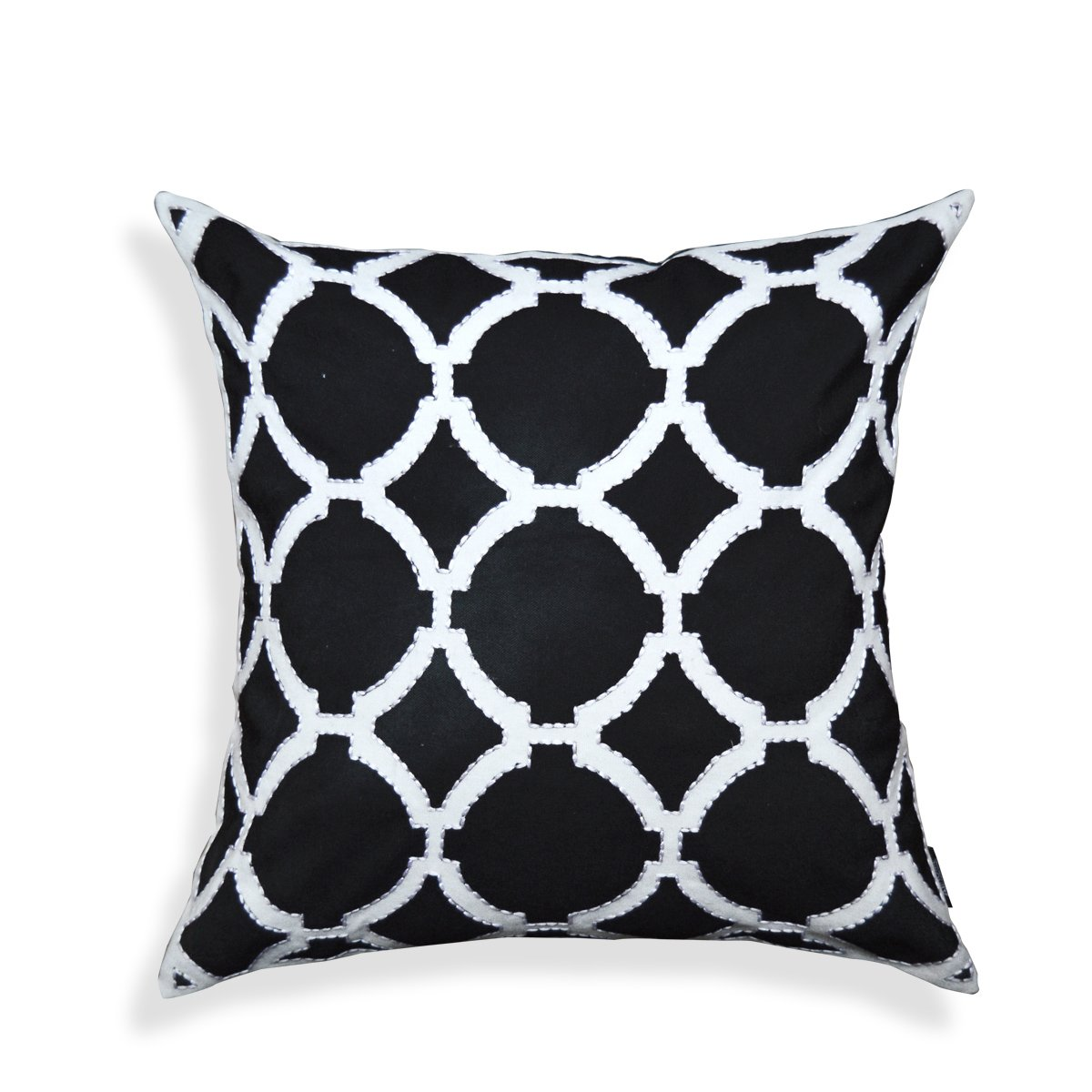 A1 Home Collections a1bw017 A1HC Geometric Pattern Cotton Throw Pillow,Black,