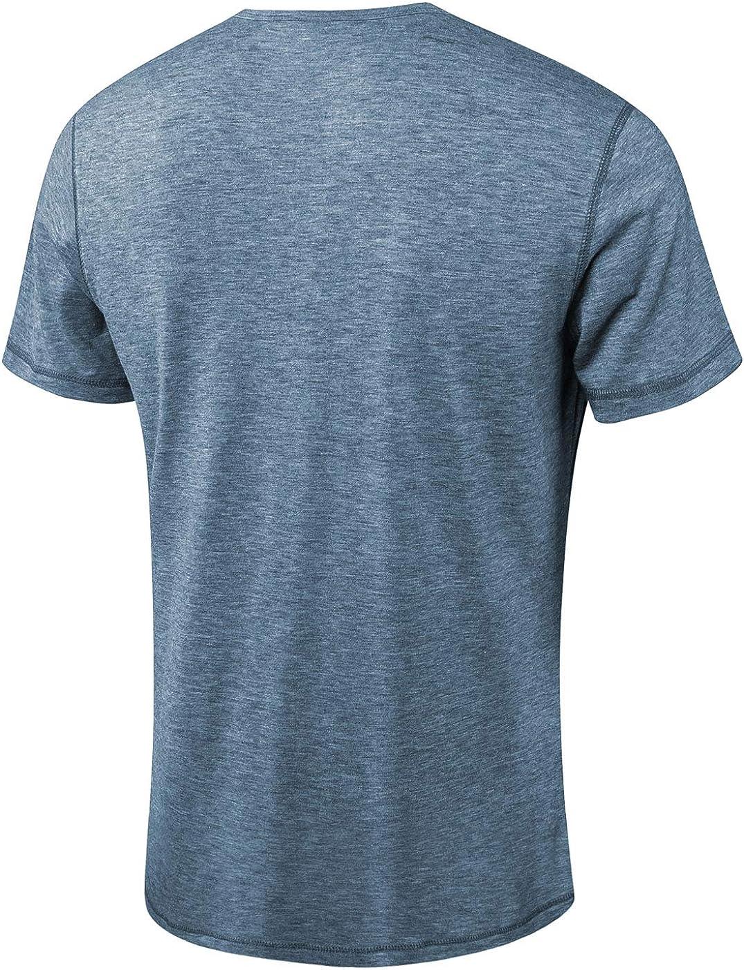 Moomphya Mens Jacquard Knitted Casual Short Sleeve V-Neck Henley T-Shirts