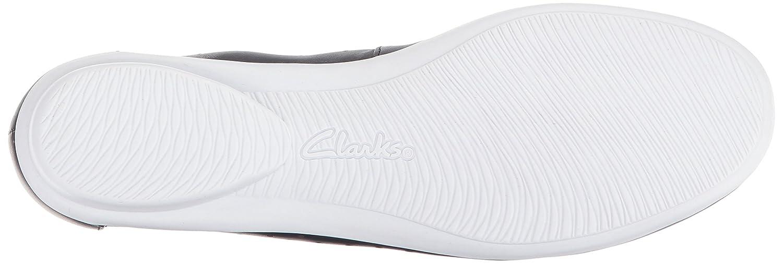 CLARKS Damens's Gracelin Lea Ballet Flat, US Navy Leder, 12 Wide US Flat, cff8ac