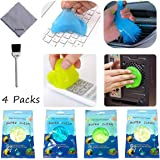 Cleaning Goop for Car, 4 Packs, 10OZ, Magic Dust Cleaning Mud with A Cleaning Cloth and A Brush, Car Detailing Cleaning Putty for Laptop, Car Vents, Camera, Printers, Telephone and Calculator