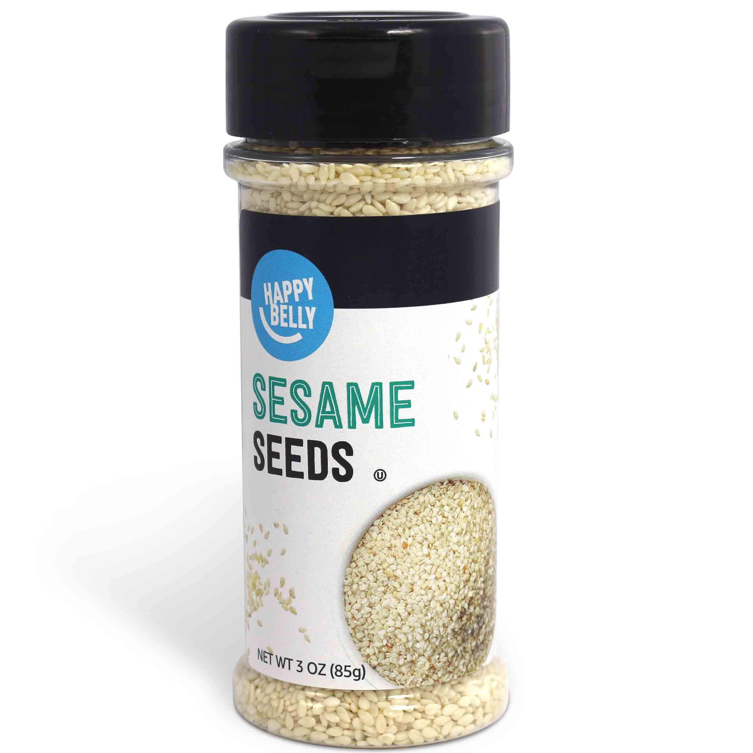 Amazon Brand - Happy Belly Sesame Seeds, 3 Ounces