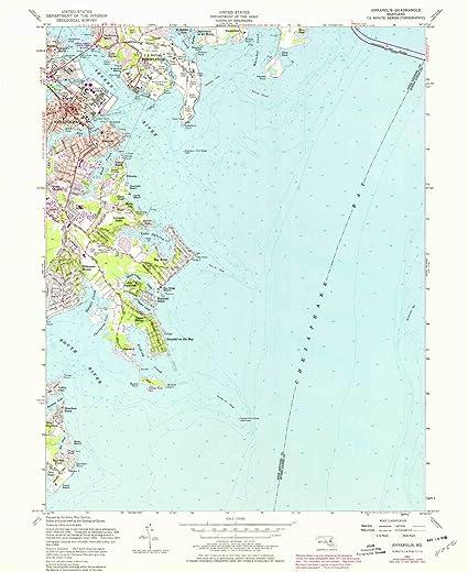 Amazon.com : YellowMaps Annapolis MD topo map, 1:24000 Scale, 7.5 X ...