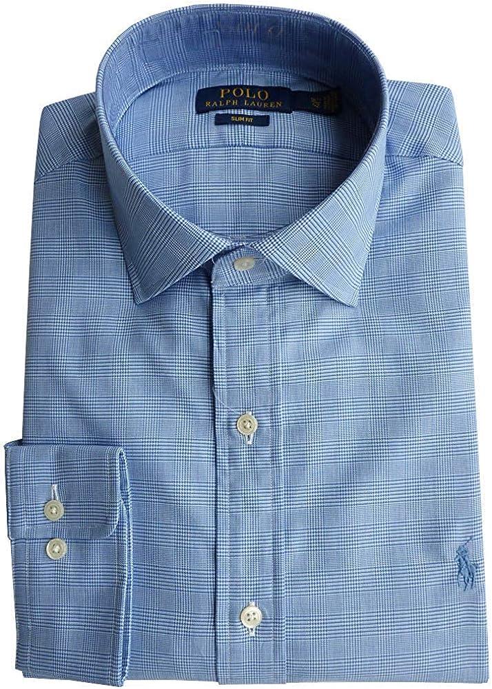 Polo Ralph Lauren Camisa Gr.42 (16 1/2), Slim Fit, Azul/Blanco ...