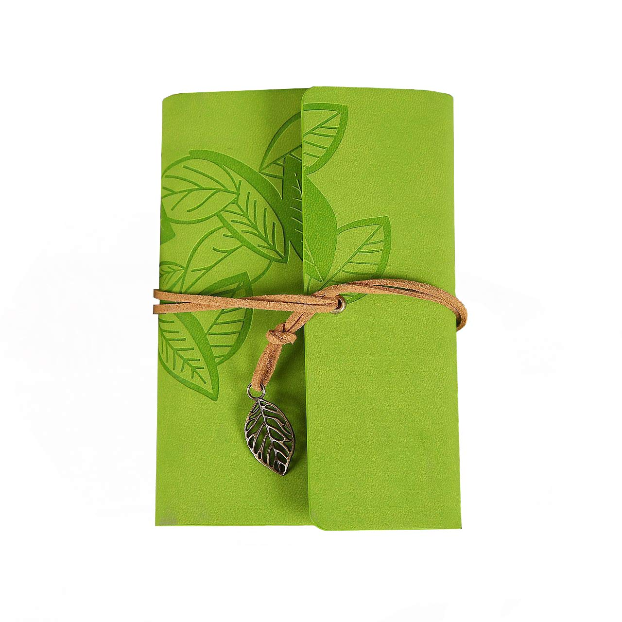 Electomania® Creative Vintage PU Leather Travel Notebook Blank Notepad String Loose Leaf Charm Diary (Grass Green) (B07M87JYH7) Amazon Price History, Amazon Price Tracker