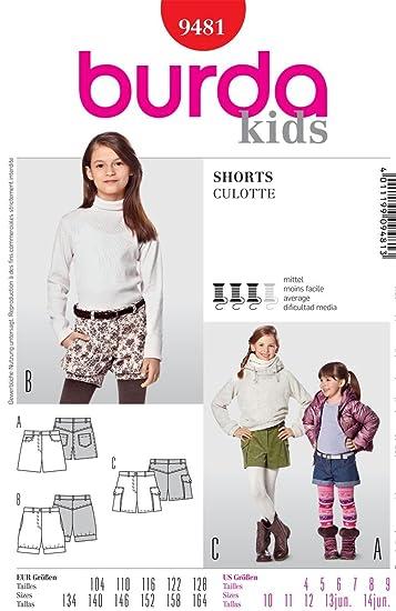 Burda Schnittmuster 9481 Shorts - Bloomers Gr. 104-128: Amazon.de ...
