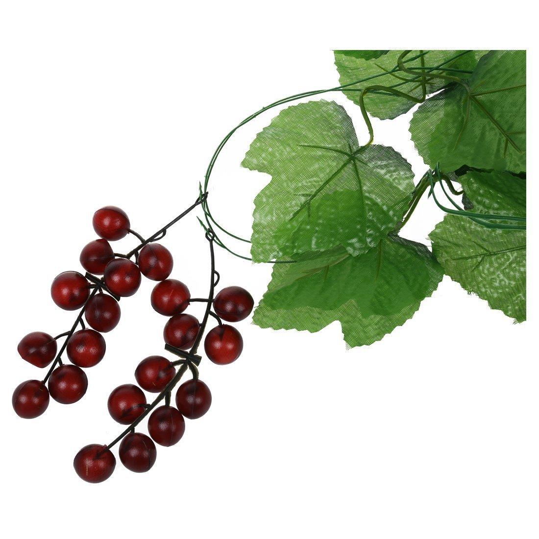 R SODIAL 2x vid uvas corona de frutas artificiales para la decoracion del jardin de su casa