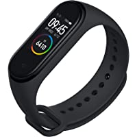 Mi Smart Band 4 - Waterproof with Color AMOLED Touch Screen, Music Control, Unlimited Watch Faces and up-to 20 Days Battery Life