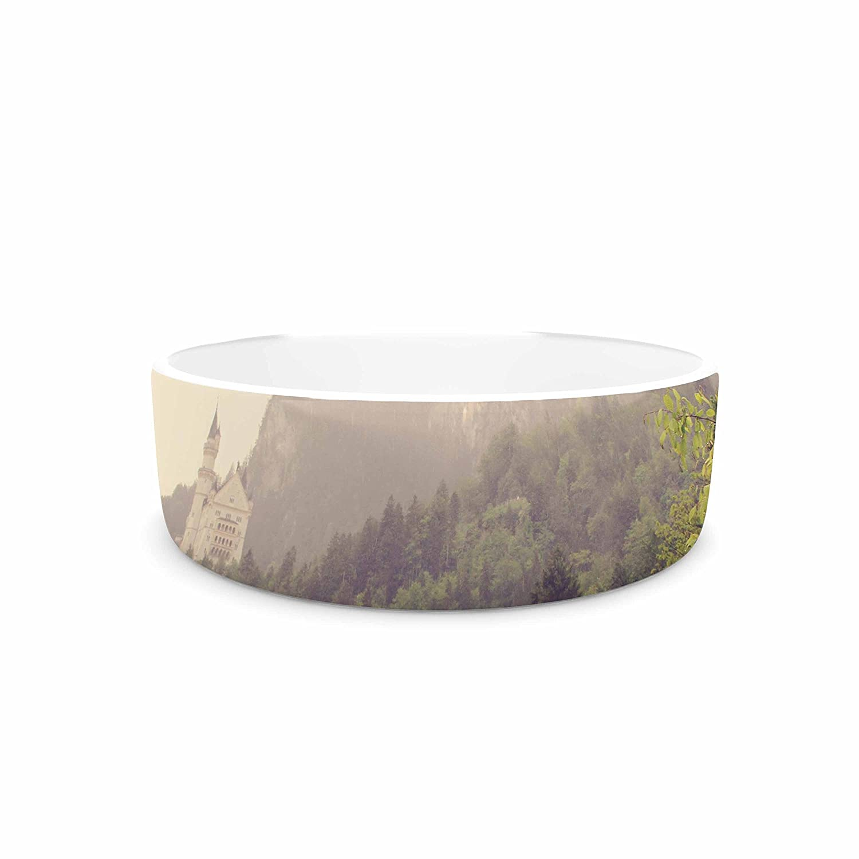KESS InHouse Sylvia Coomes German Beauty  Green Travel Pet Bowl, 7